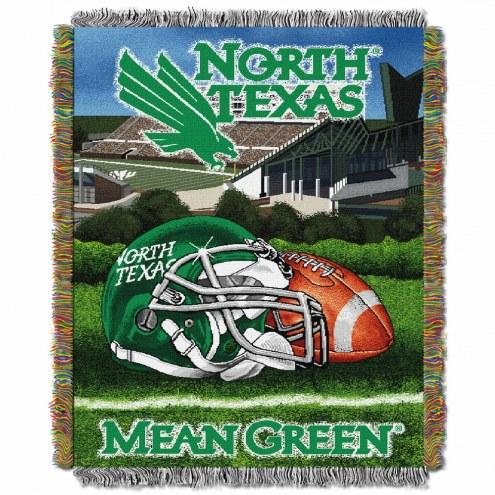 North Texas Mean Green Home Field Advantage Throw Blanket
