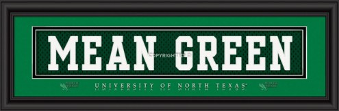 """North Texas Mean Green """"Mean Green"""" Stitched Jersey Framed Print"""