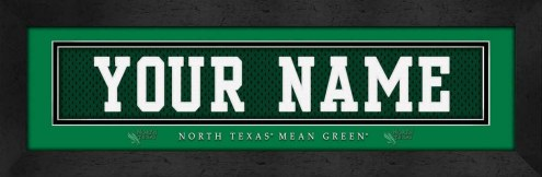 North Texas Mean Green Personalized Stitched Jersey Print