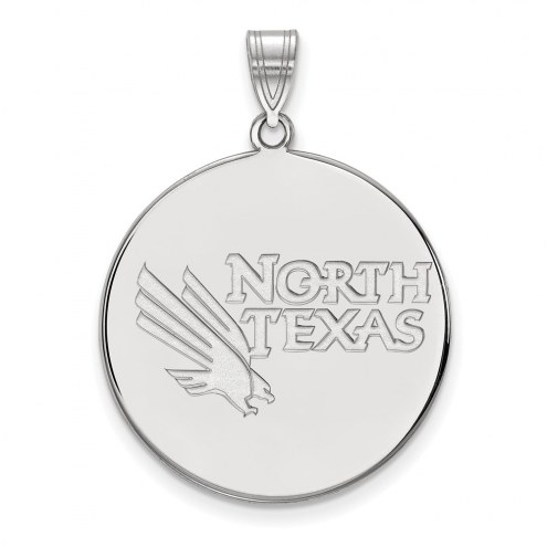 North Texas Mean Green Sterling Silver Extra Large Disc Pendant