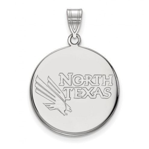 North Texas Mean Green Sterling Silver Large Disc Pendant