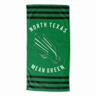 North Texas Mean Green Stripes Beach Towel