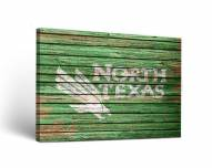 North Texas Mean Green Weathered Canvas Wall Art