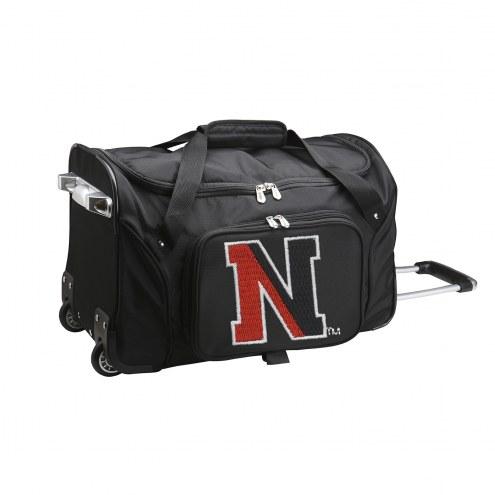 """Northeastern Huskies 22"""" Rolling Duffle Bag"""