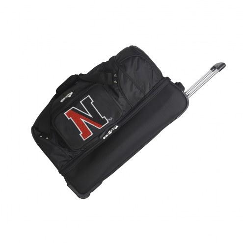 "Northeastern Huskies 27"" Drop Bottom Wheeled Duffle Bag"