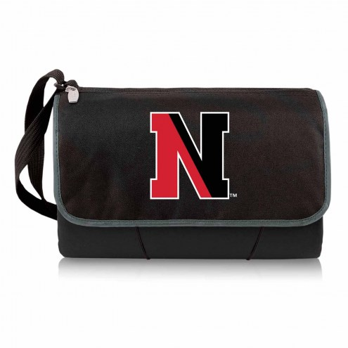 Northeastern Huskies Black Blanket Tote