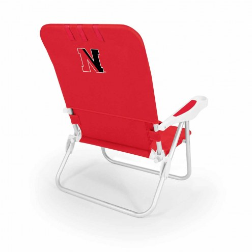 Northeastern Huskies Red Monaco Beach Chair