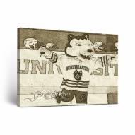 Northeastern Huskies Sketch Canvas Wall Art