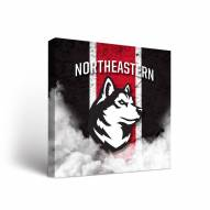 Northeastern Huskies Vintage Canvas Wall Art