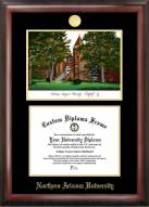 Northern Arizona Lumberjacks Gold Embossed Diploma Frame with Campus Images Lithograph