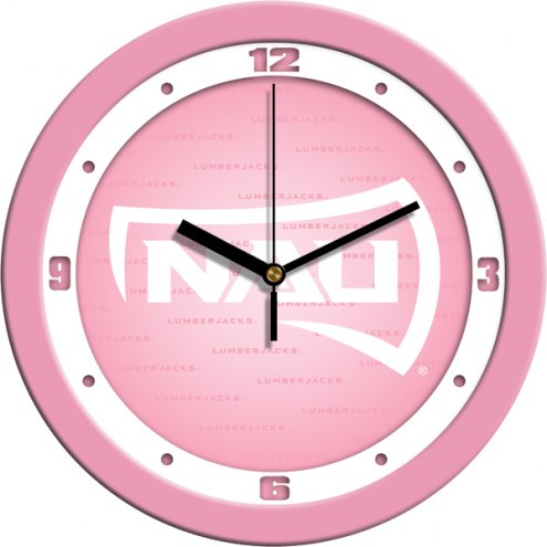 Northern Arizona Lumberjacks Pink Wall Clock