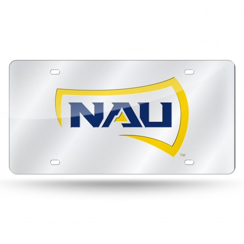 Northern Arizona Lumberjacks Silver Laser License Plate