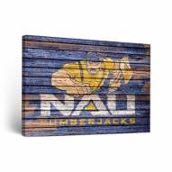 Northern Arizona Lumberjacks Weathered Canvas Wall Art