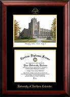 Northern Colorado Bears Gold Embossed Diploma Frame with Campus Images Lithograph