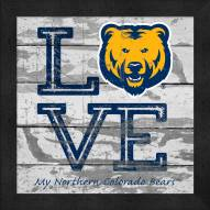 Northern Colorado Bears Love My Team Square Wall Decor