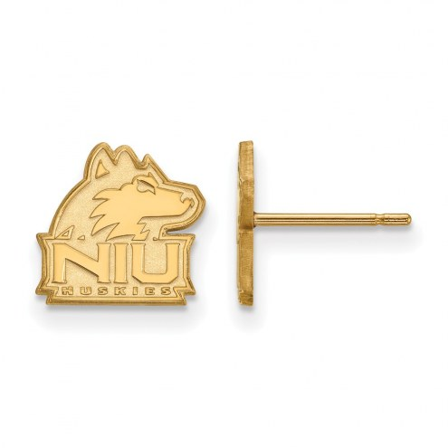 Northern Illinois Huskies NCAA Sterling Silver Gold Plated Extra Small Post Earrings