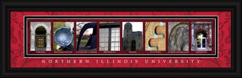 Northern Illinois Huskies Campus Letter Art