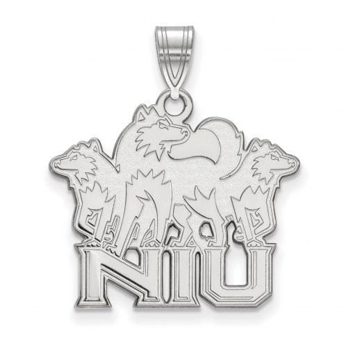 Northern Illinois Huskies Sterling Silver Large Pendant