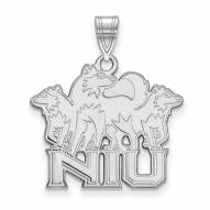 Northern Illinois Huskies Sterling Silver Large Pendant