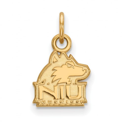 Northern Illinois Huskies Sterling Silver Gold Plated Extra Small Pendant