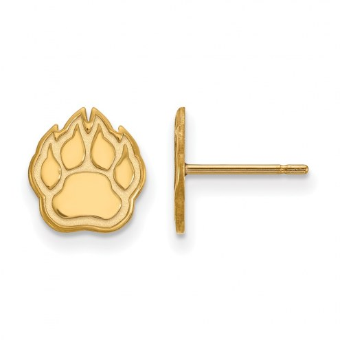 Northern Illinois Huskies Sterling Silver Gold Plated Extra Small Post Earrings