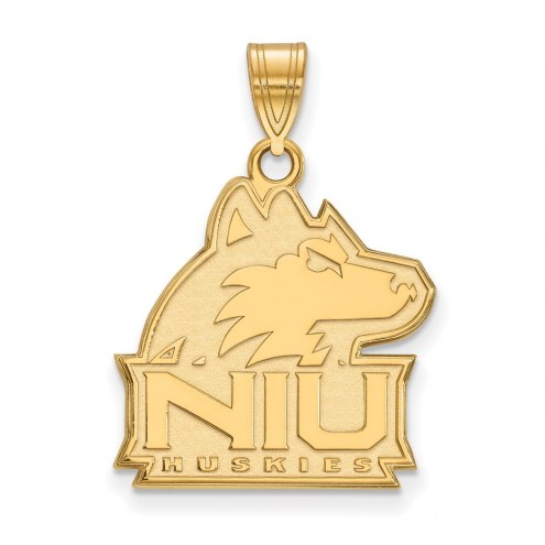 Northern Illinois Huskies NCAA Sterling Silver Gold Plated Large Pendant