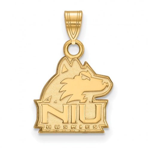 Northern Illinois Huskies NCAA Sterling Silver Gold Plated Small Pendant