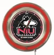 Northern Illinois Huskies Neon Clock