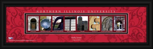 Northern Illinois Huskies Personalized Campus Letter Art