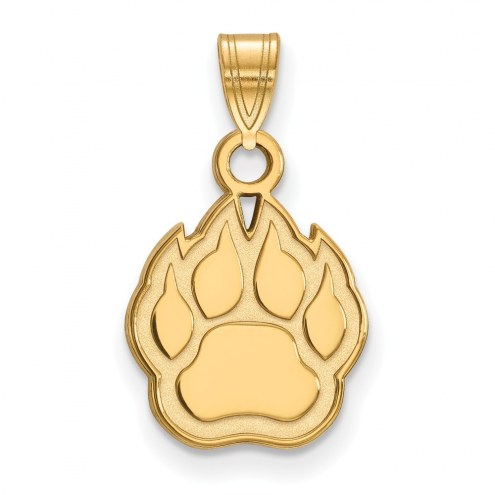Northern Illinois Huskies Sterling Silver Gold Plated Small Pendant