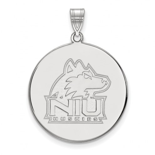 Northern Illinois Huskies Sterling Silver Extra Large Disc Pendant