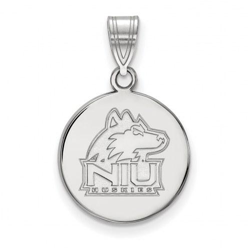 Northern Illinois Huskies Sterling Silver Medium Disc Pendant