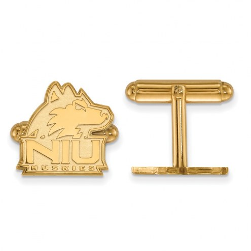 Northern Illinois Huskies Sterling Silver Gold Plated Cuff Links