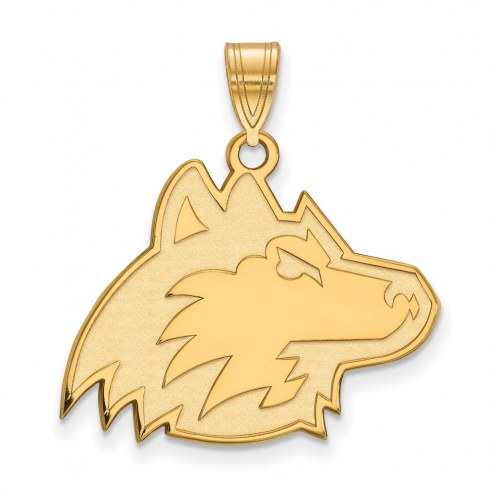 Northern Illinois Huskies Sterling Silver Gold Plated Large Pendant