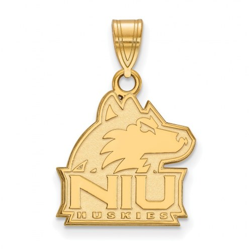 Northern Illinois Huskies Sterling Silver Gold Plated Medium Pendant