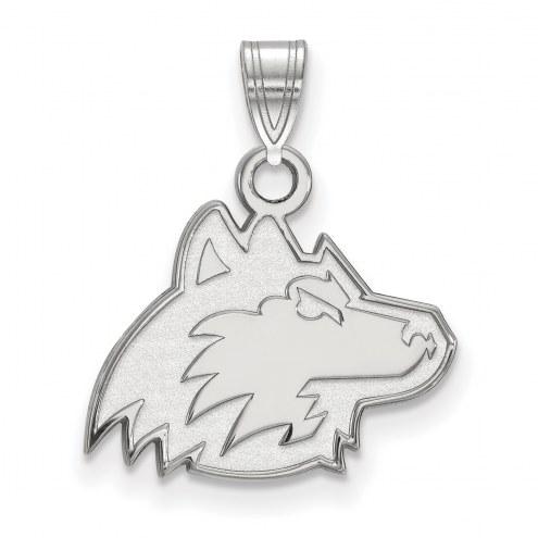 Northern Illinois Huskies Sterling Silver Small Pendant
