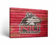 Northern Illinois Huskies Weathered Canvas Wall Art