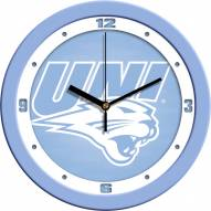 Northern Iowa Panthers Baby Blue Wall Clock