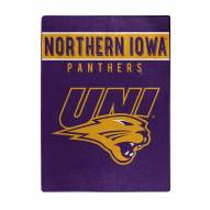 Northern Iowa Panthers Basic Plush Raschel Blanket