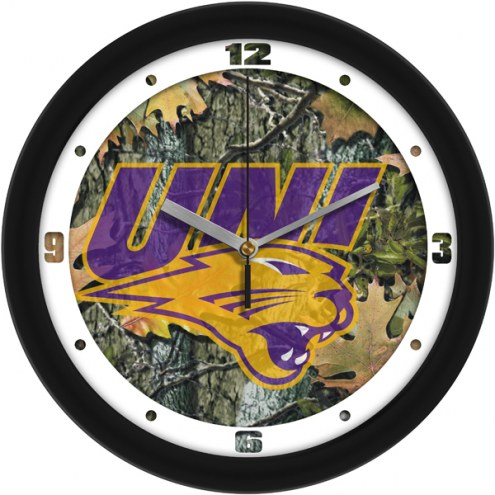 Northern Iowa Panthers Camo Wall Clock