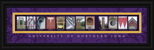 Northern Iowa Panthers Campus Letter Art