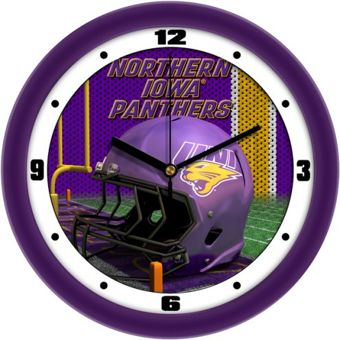 Northern Iowa Panthers Football Helmet Wall Clock
