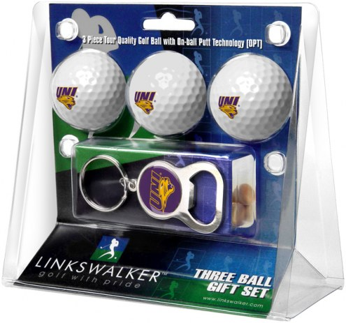 Northern Iowa Panthers Golf Ball Gift Pack with Key Chain