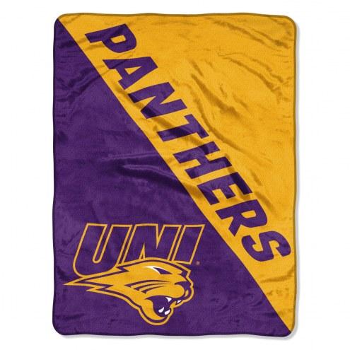 Northern Iowa Panthers Halftone Raschel Blanket