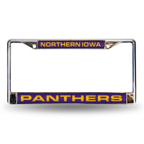 Northern Iowa Panthers Laser Chrome License Plate Frame