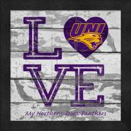 Northern Iowa Panthers Love My Team Square Wall Decor