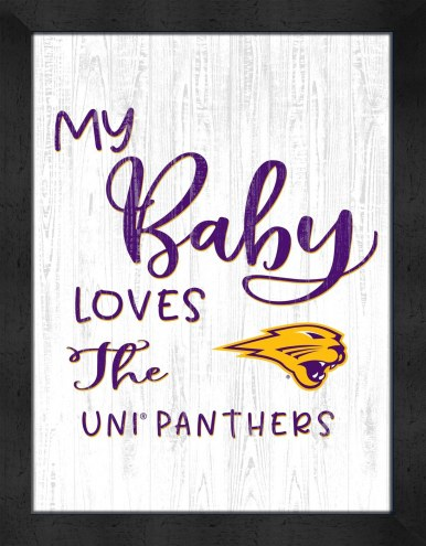 Northern Iowa Panthers My Baby Loves Framed Print