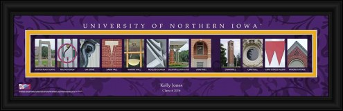Northern Iowa Panthers Personalized Campus Letter Art