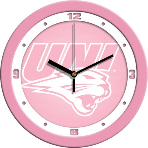 Northern Iowa Panthers Pink Wall Clock