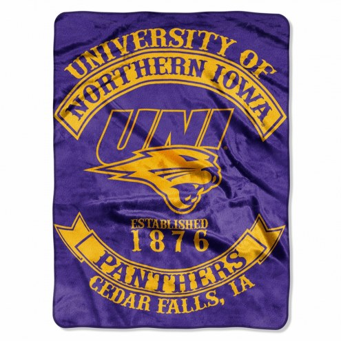Northern Iowa Panthers Rebel Raschel Throw Blanket